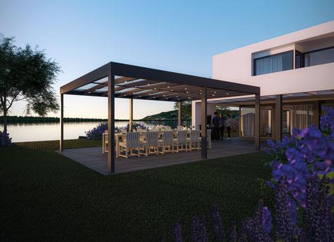Sunparadise Sommergarten Terrassendach freistehend Überdachung Outdoor living Carport Schreinerei Jertz Mainz