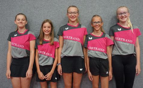 Kreisliga Mädchen 18, v.l.n.r.: Jule Sander, Carolina Korstick, Johanna Döring, Johanna Schreiner & Charlotte Döring