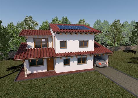 Villa tradizionale, 2 piani, 160mq