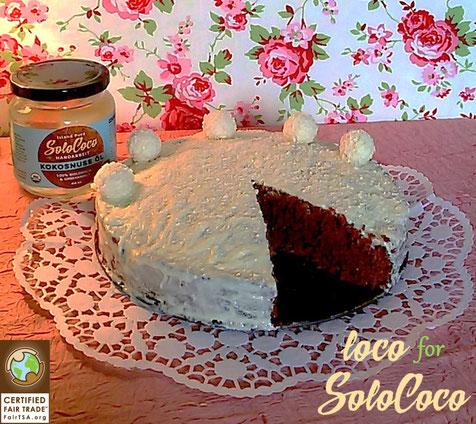 Ein Bounty oder Karibik Kuchen mit Kokosöl gemacht ---- einfach lecker. Hier das Rezept