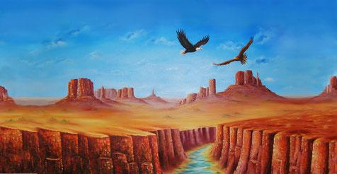 Adler - Adlerflügel - Öl-Gemälde