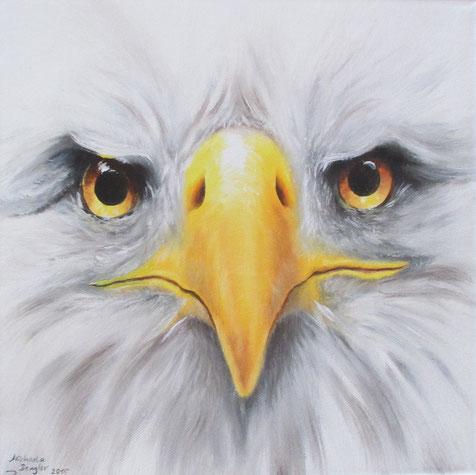 Weisskopfseeadler - Adler - Öl-Gemälde - Adlerkopf