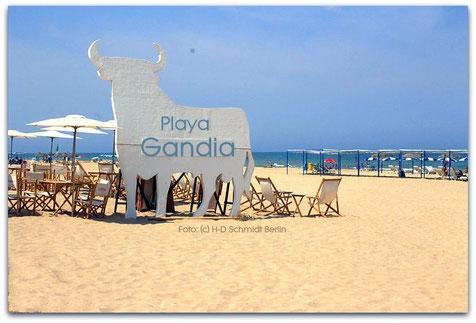 Playa Gandia, Strand von Gandia, Valencia, Spanien, August 2014