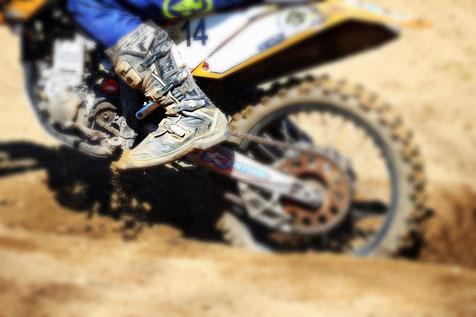 Motorrad-Stiefel Herren Motocross hoch Leder 3 Verschlüsse