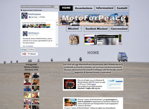 Sito Motoforpeace by Agapeuno Team Webmaster Roma