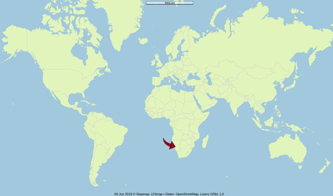 Karte Welt Namibia