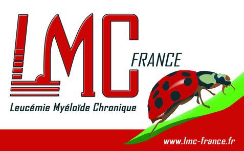 logo coccinelle mina leucemie LMC traitement lmc france cml myeloide myéloïde chronique leucémie lmc cml leukemia cancer sang moelle osseuse leucocythose traitement philadelphie
