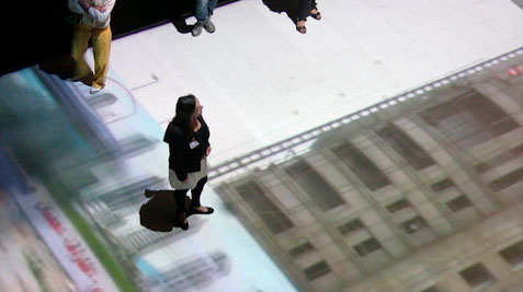 projection on the floor and on the wall, each 6.56 x 9.84 yards (6 x 9 m), Ars Electronica, 2010, Linz