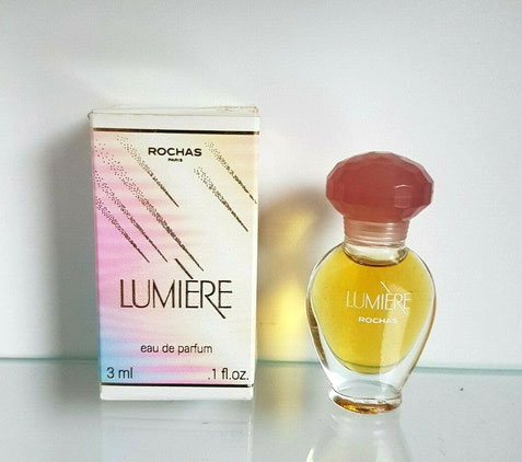 LUMIERE - FLACON AMPHORE VERRE TRANSPARENT - EAU DE PARFUM 3 ML - BOUCHON PLASTIQUE ROSE FONCE