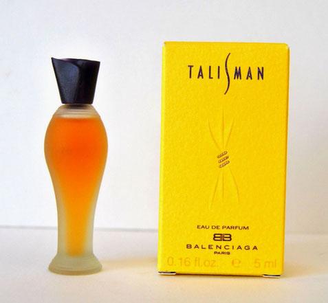 TALISMAN - EAU DE PARFUM 5 ML - MINIATURE EN VERRE SATINE, BOUCHON MAUVE EN PLASTIQUE CLIPE