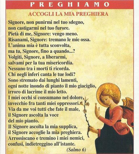 La preghiera della settimana 2011 piumazzo parrocchia - Stampabile la preghiera del signore ...