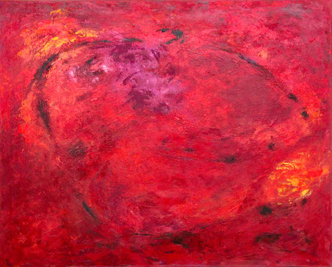 ohne Titel  Acryl auf Leinwand  80 x 100 cm