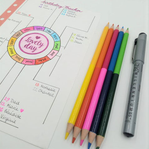 paper break bullet journal birthday tracker gratuit