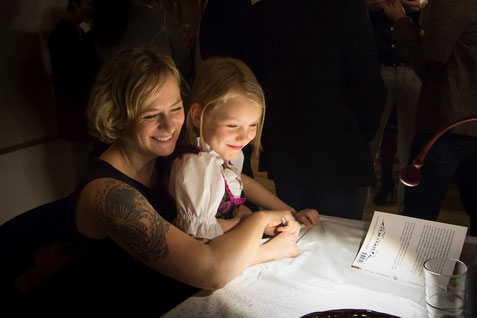 Alva und Emi, Lesung im Schloss Sierning