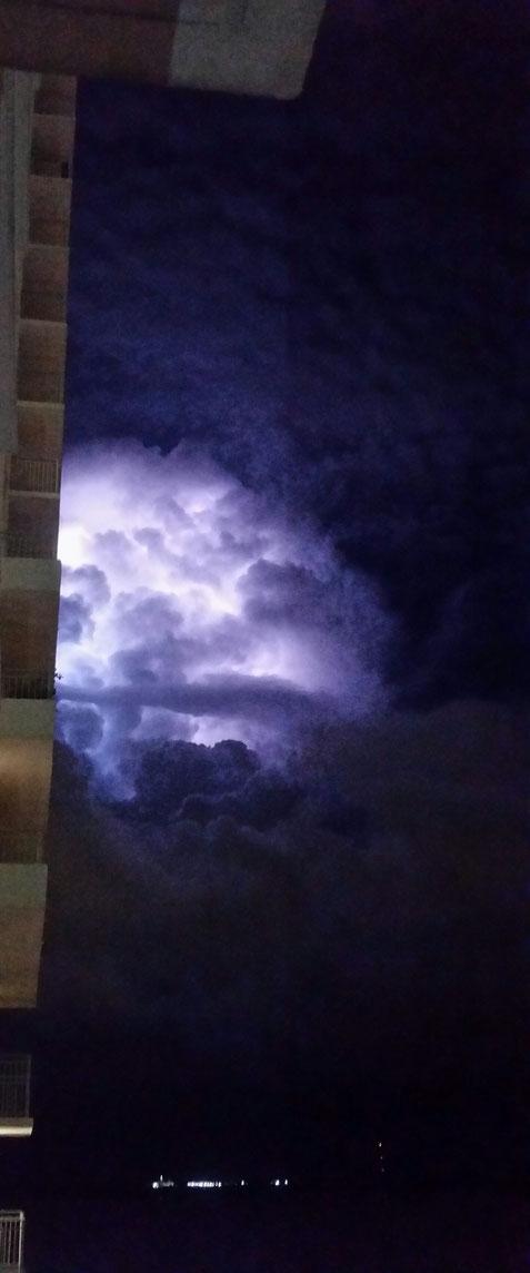 mardi 11 juin, cette fois ce n'était qu'un petit orage.