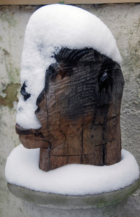 River God with snow 2009 (River Oak) (33x20x23) Fergus Murray