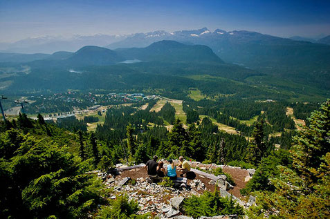 Panoramic view of the Comox Valley from Mount Washington.