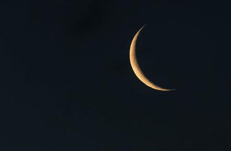 Der Ramadan beginnt, wenn der Mond in Form einer Sichel am Himmel steht
