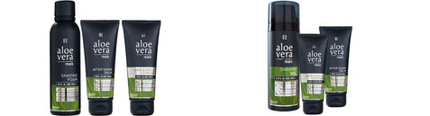 Retrouvez les deux sets Aloe Vera pour hommes avec mousse à raser ou le gel à raser en solde