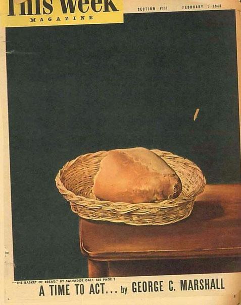 Корзинка с хлебом  - Сальвадор Дали
