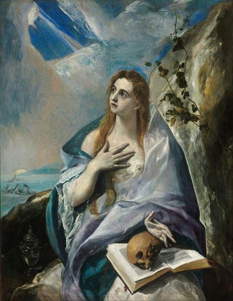 Знаменитые картины Эль Греко. Кающаяся Мария Магдалина