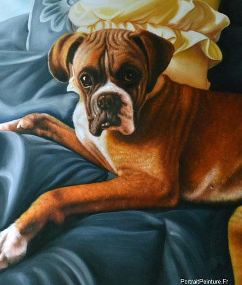 peinture-chien-habille-huile