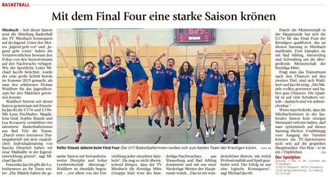 Artikel im Miesbacher Merkur am 7.5.2016 - Zum Vergrößern klicken