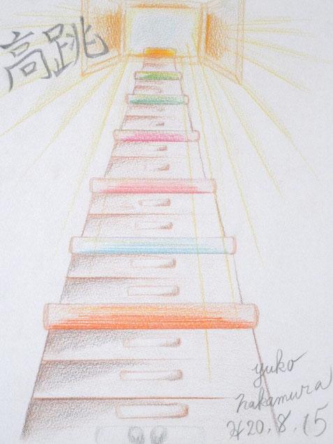 学生時代に描いたいくつもの跳び箱
