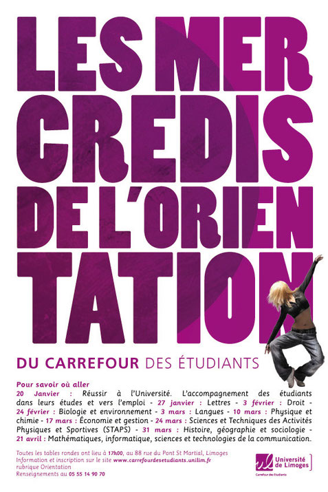 Affiche pour le Carrefour des étudiants