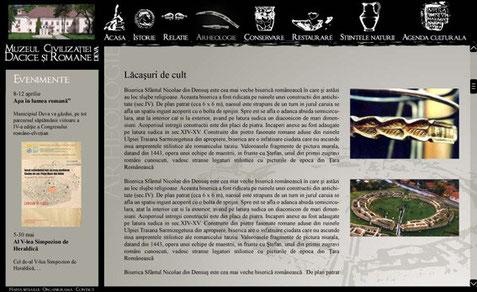 Proposition de page type pour le musée de Deva