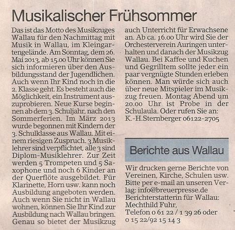 Erbenheimer Anzeiger 17.5.2013