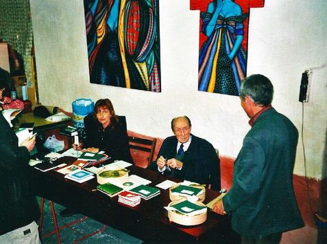 Isabelle Marsala, Max Rouquette et Luis Casinada (de dos).