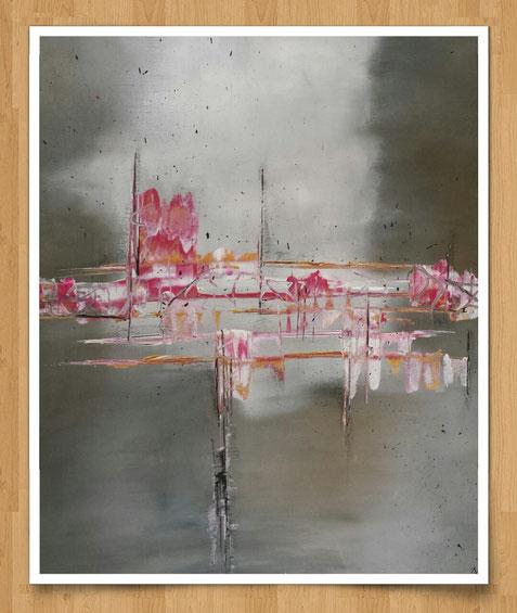 Farbmelodie  80 x 70cm Acryl auf Leinwand  -verkauft-