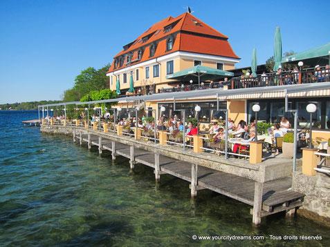 Tourisme - le lac de Starnberg avec ses plages, ses Biergarten et ses paysages magnifiques