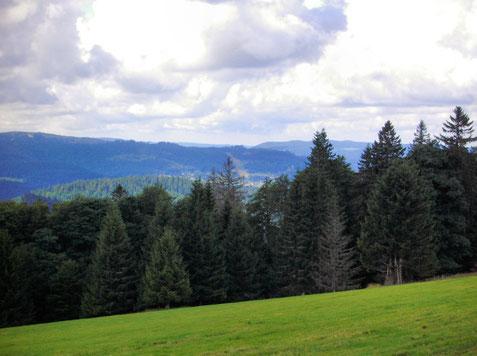 Au fond de la vallée, le lac de Gérardmer