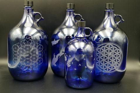 5l wasserflasche , heilige geometrie , struktur , speicher , blume des lebens