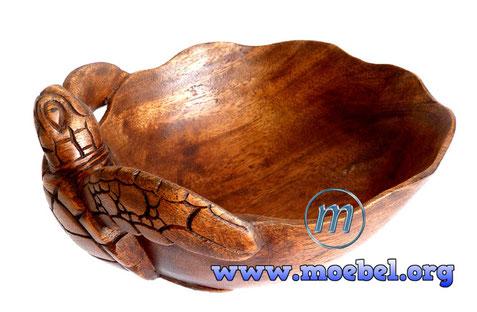 Schildkröte, Schale aus Holz