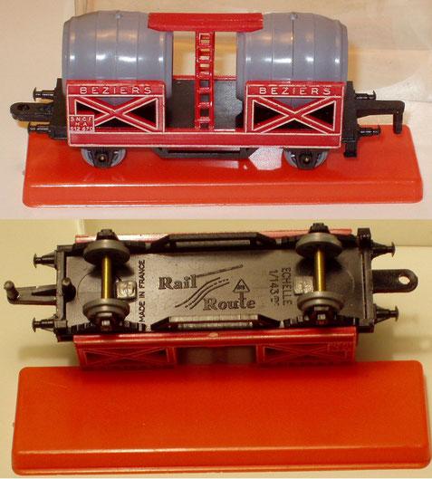 El modelo original francés del vagón-cuba. La foto es cortesía de René Palomino (Francia).