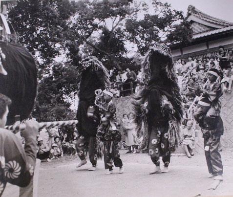 毎年旧暦10月13日に吉無田郷の氏神・麻利支天王神社の祭礼に奉納されます。