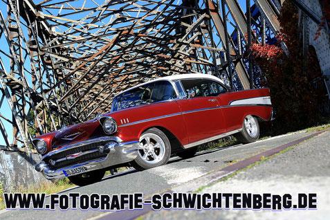 Autofotograf - Autofotografie - 57er BelAir zum Chrom & Flammen Magazin
