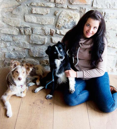 Julia mit Rose und Eze