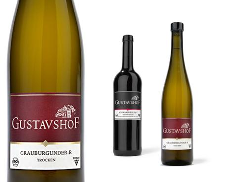 Gustavshof - Wein - Grauburgunder - Flasche - Weingut - Premium - tradition - Packaging - Design - DesignKis - 2011 - Verpackung