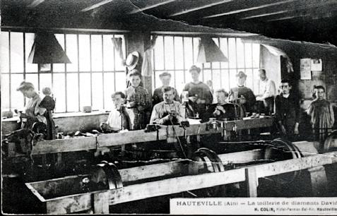 L'atelier de taille de diamants à Hauteville