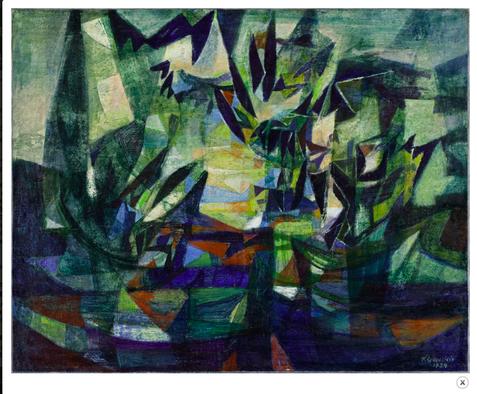 Löwentein, Paysage, huile sur toile, 1939 (MNR 28P)
