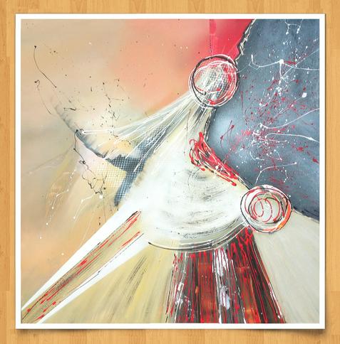 Outer space 80 x 80cm Acryl auf Leinwand - Preis auf Anfrage -