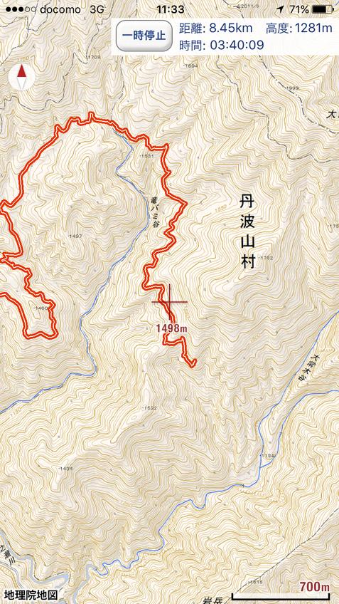 GPSの記録地図