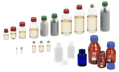 Liquid Sample Bottle Receiver types - Mechatest