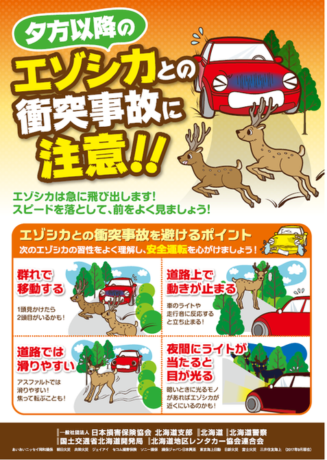 (一社)日本損害保険協会北海道支部作成チラシ