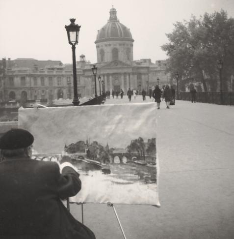Erwin Bowien auf dem Pont des Arts in Paris, 1964