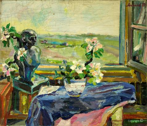 Amud Uwe Millies - Ausblick aus dem Hause Heinen in Solingen, 1957